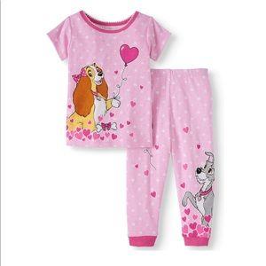 SALE 4/$30 NWT Disney Pajamas Lady & The Tramp